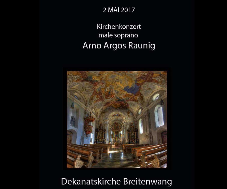 Solo Konzert Arno Argos Raunig Dekanatskirche Breitenwang 2 mai 2017