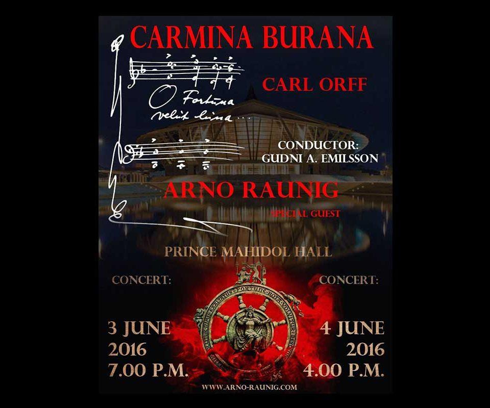 Concerts 3-4 June Carmina Burana with Arno ARGOS Raunig