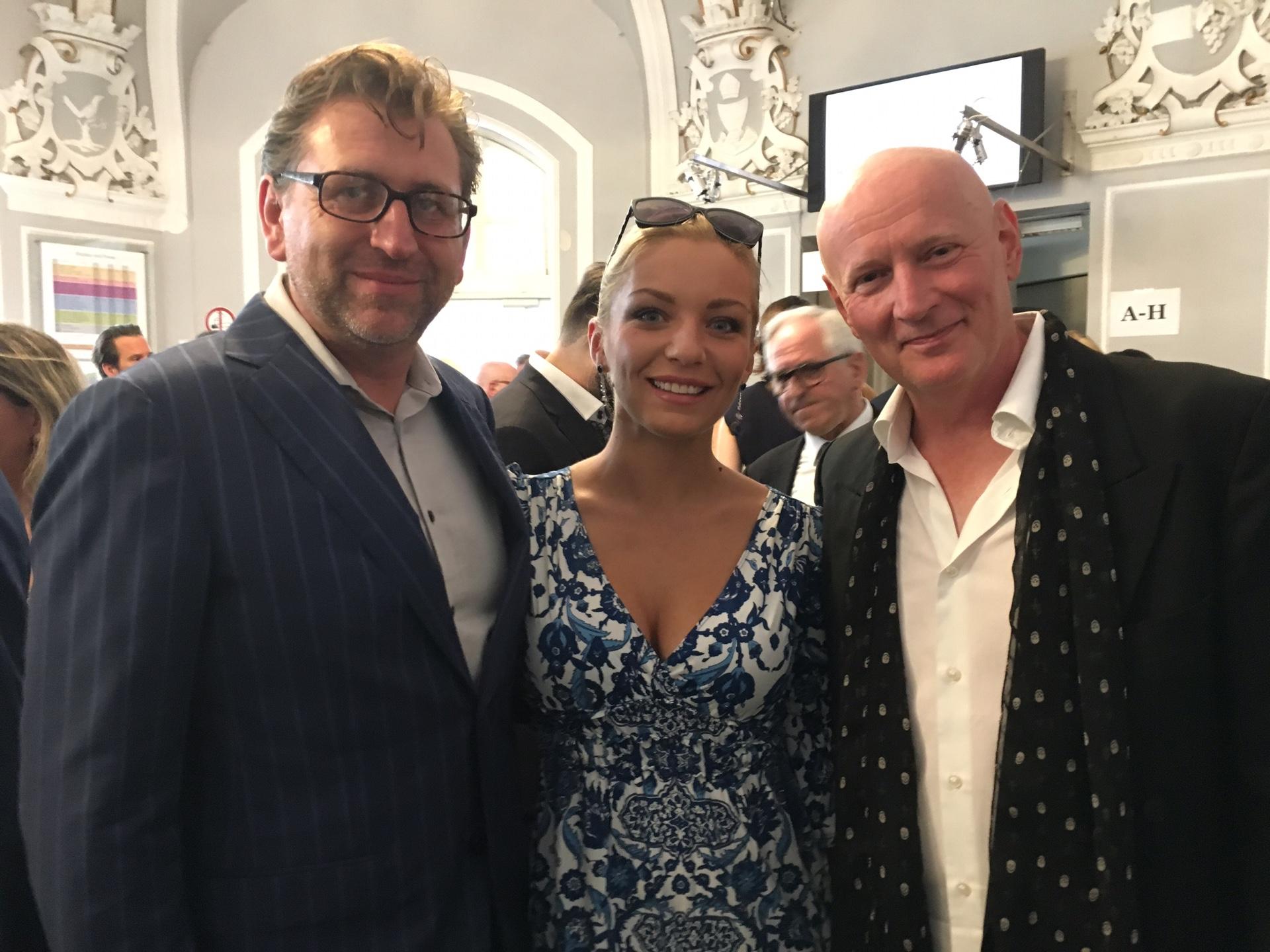 Arno Argos Raunig mit Lidia Baich mit Andreas Schager