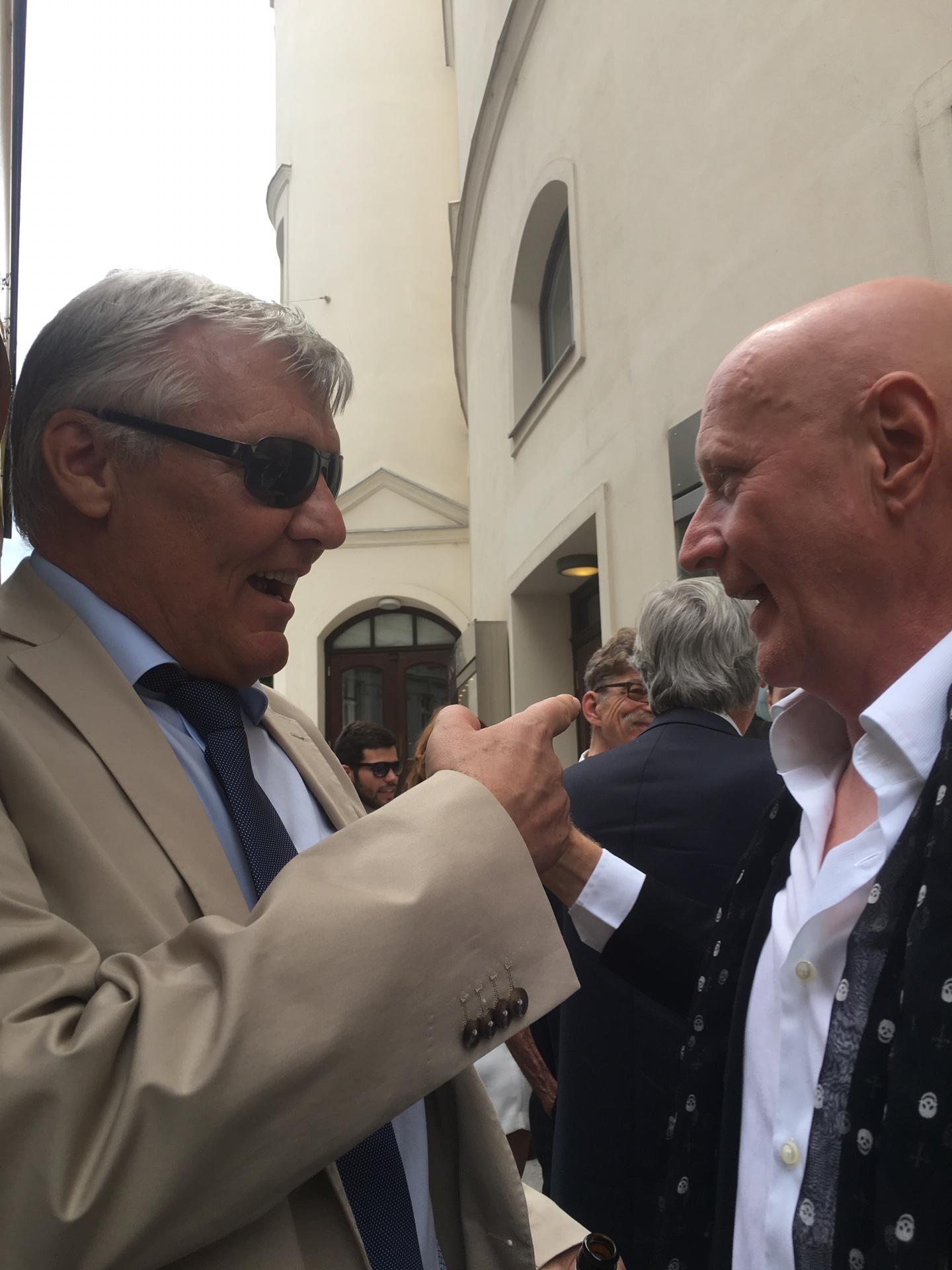 Arno Argos Raunig mit Josef Luftensteiner