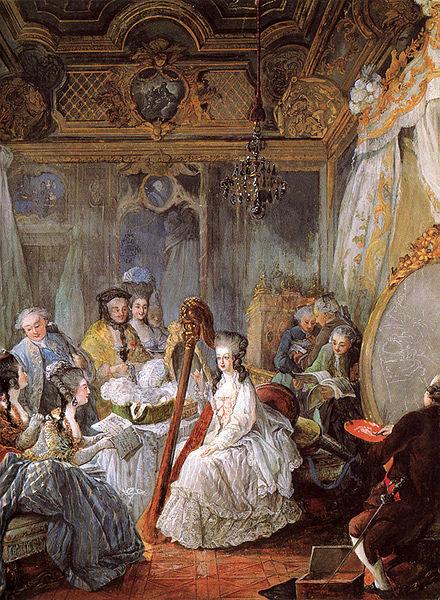 Im Boudoir der Königin