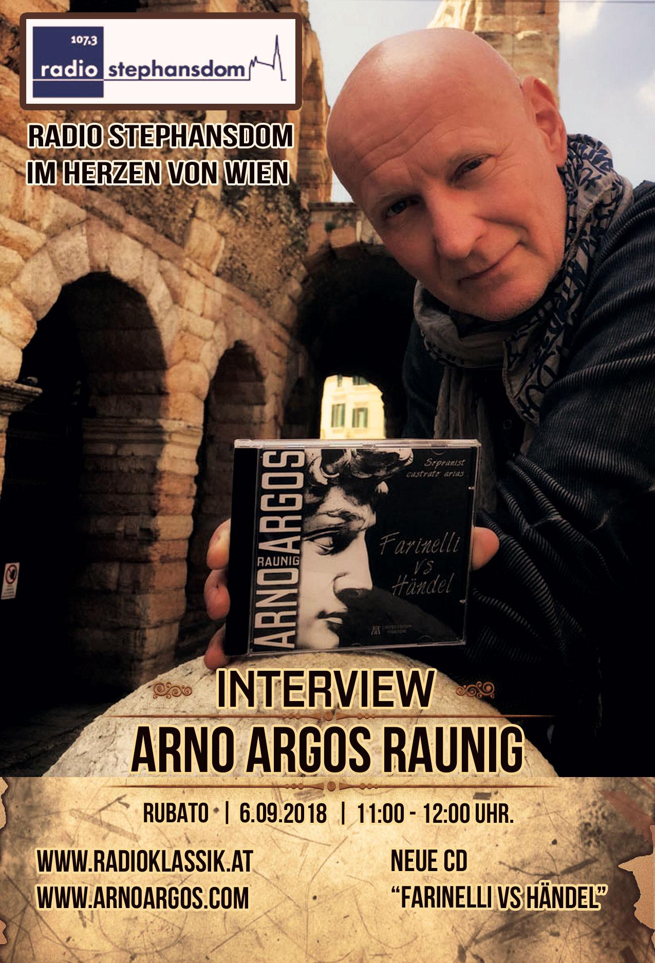 Interview mit Sopranist Arno Argos Raunig