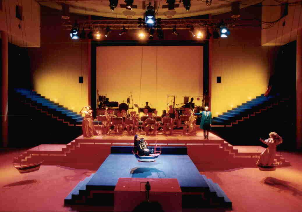 Opera Effi Briest. Iris ter Schiphorst & Helmut Oehring. Arno Argos Raunig, sopranist