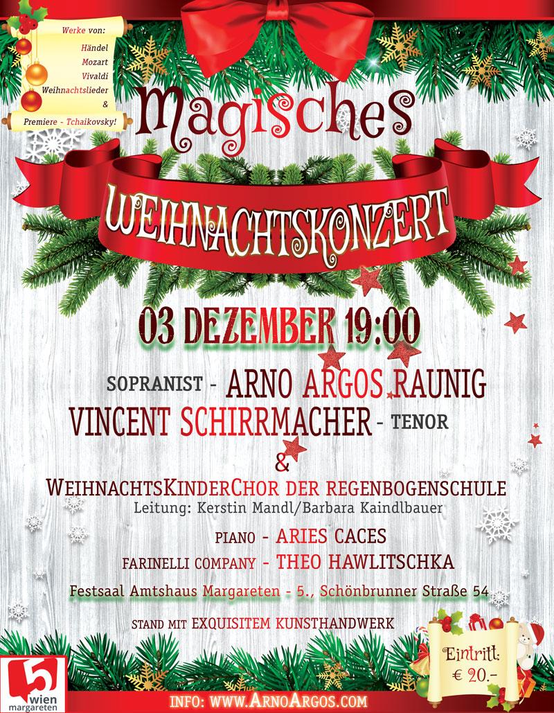 Magisches Weihnachtskonzert in Wien 3.12.2019
