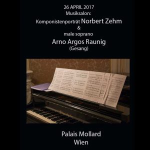 Musiksalon: Komponistenporträt Norbert Zehm mit Arno Argos Raunig