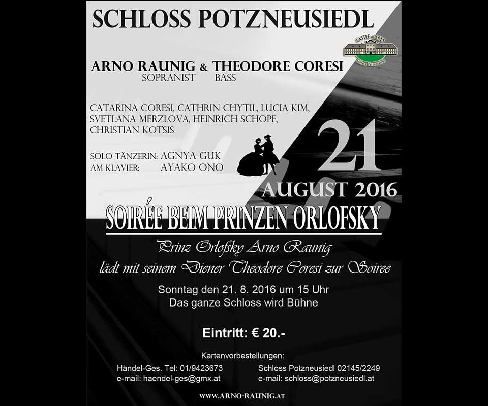 Konzert: Soiree Beim Prinzen Orlofsky 21.8.2016