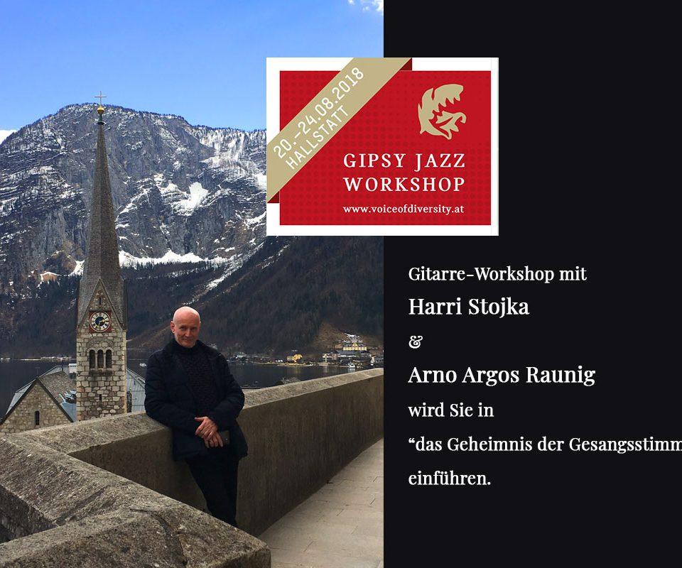 Gipsy Jazz Workshop Hallstatt Harri Stojka und Arno Argos Raunig